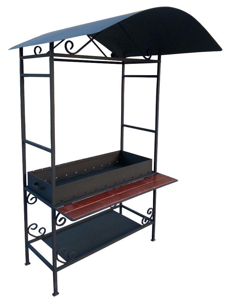 Мангалы для дачи с крышей чертежи и фото